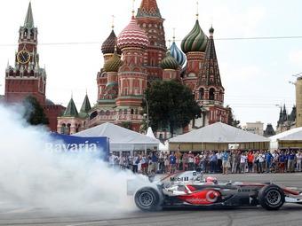 В Москве прошли заезды болидов Формулы-1