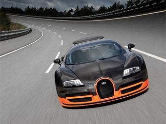 Самый мощный Bugatti Veyron побил мировой рекорд скорости