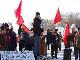 Автомобилисты Благовещенска потребовали отставки Путина