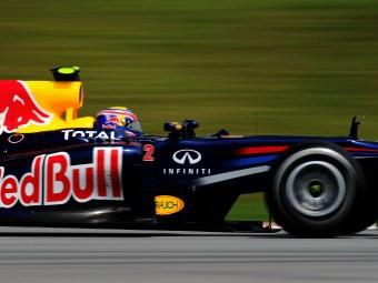 Уэббер стал быстрейшим в свободных заездах Гран-при Малайзии