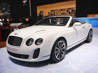 Рекорд скорости на льду отпраздновали спецсерией кабриолета Bentley