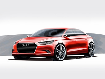 """Audi A3 покажут в Женеве с кузовом """"нотчбек"""""""