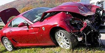 Глава Fiat разбил Ferrari 599 GTB