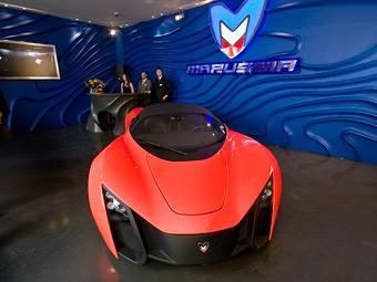 В Москве открылся автосалон по продаже суперкаров Marussia