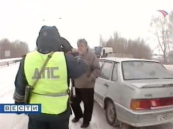 """Представитель ДПС признал незаконным """"живой щит"""" на МКАДе"""
