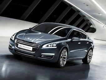 Компания Peugeot показала прототип нового большого седана