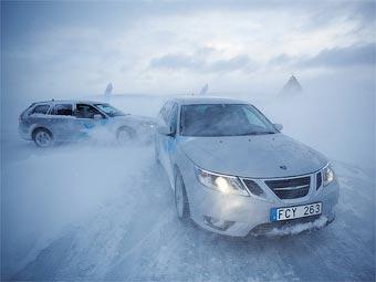 Saab научит москвичей экстремальному зимнему вождению