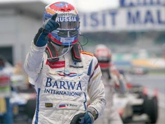 Россиянин одержал победу в гонке GP2 Asia в Малайзии