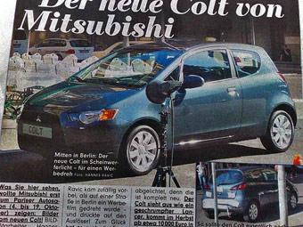 """Обновленный Mitsubishi Colt получит """"лицо"""" Lancer"""