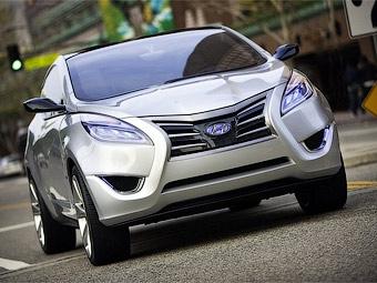 Компания Hyundai показала прототип гибридного кроссовера