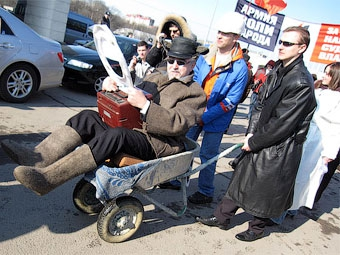 В Санкт-Петербурге прошла акция протеста против увольнений в автопроме