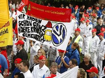 """Рабочие VW протестуют против отмены """"Фольксвагеновского закона"""""""