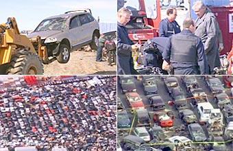 На канадской свалке металлолома нашли 700 угнанных машин