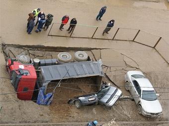 Причиной провала в Южном Бутово названы грунтовые воды