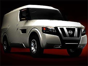 Компания Nissan показала тизер концептуального коммерческого автомобиля