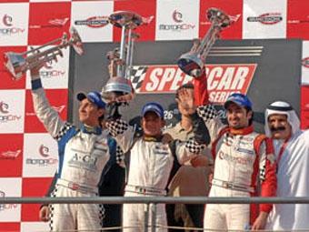 Жан Алези выиграл первую гонку Speedcar Series в Бахрейне
