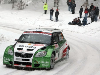 Раллийная Skoda Fabia оказалась быстрее всех в первый день ралли Монте-Карло
