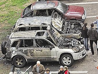 Количество поджогов машин в Москве снизилось на 15 процентов