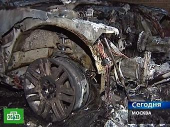 На МКАД сгорел автомобиль