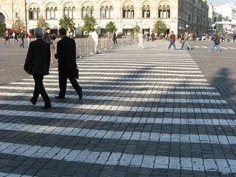 В Москве исчезнут пешеходные зебры