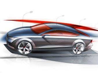 """Прототип """"четырехдверного купе"""" Audi A7 покажут в Детройте"""