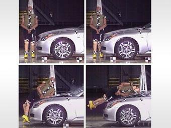 """Nissan защитит пешеходов с помощью """"подпрыгивающих капотов"""""""