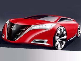 Suzuki показала первое изображение нового седана среднего класса