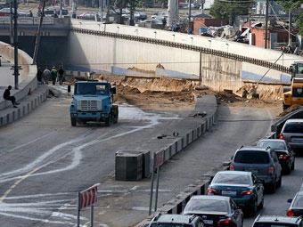 Часть тоннеля на Ленинградском проспекте откроют 28 октября