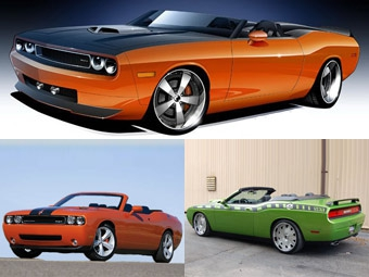 На автошоу SEMA представят три открытые версии Dodge Challenger