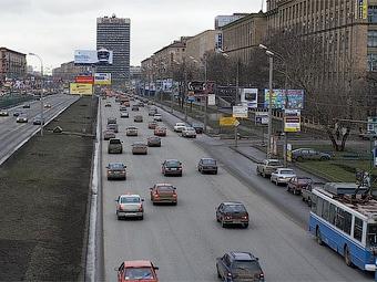 Выделенные полосы для транспорта появятся в Москве в 2009 году