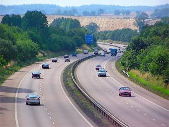 Британские водители боятся многополосных автомагистралей