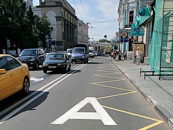 На Волоколамке открылась первая в Москве спецполоса для автобусов
