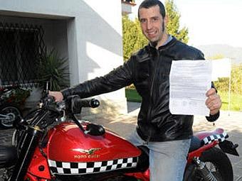 Мотоциклисту выписали штраф за езду со скоростью 600 километров в час