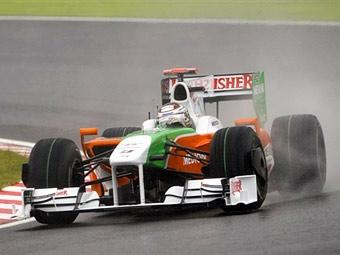 Пилот Force India показал лучшее время на пятничной практике в Японии