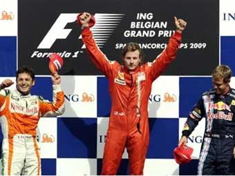 """Ferrari впервые в году выиграла гонку """"Формулы-1"""""""