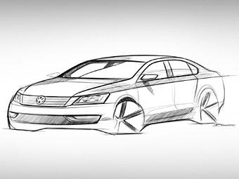 Компания Volkswagen показала эскиз седана для американского рынка