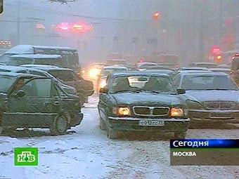 За сутки в Москве произошло полторы тысячи аварий