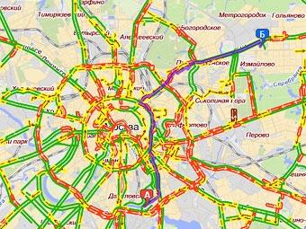 """""""Яндекс"""" научился прокладывать маршруты с учетом пробок"""