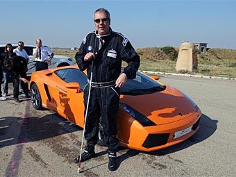 Слепой водитель на Lamborghini установил мировой рекорд скорости