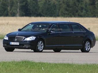Mercedes-Benz начал испытания обновленного лимузина S-Class Pullman