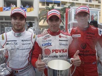 Пастор Мальдонадо одержал победу во второй гонке GP2 Series в Монако