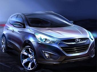 Компания Hyundai рассекретила внешность нового кроссовера