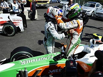 Физикелла принес Force India первую поул-позицию в истории команды