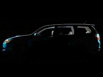 Появились первые фотографии семиместного универсала Subaru
