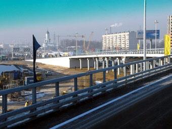 На Ярославском шоссе открыли новую двухуровневую развязку