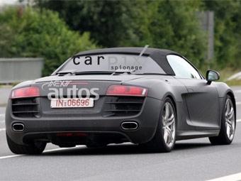 В интернете появились шпионские фотографии Audi R8 без крыши
