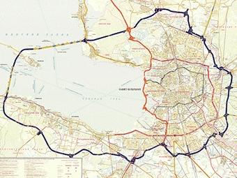 Постройка кольцевой автодороги вокруг Петербурга подешевела