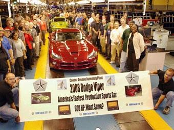 В США начался выпуск 600-сильного Dodge Viper SRT-10