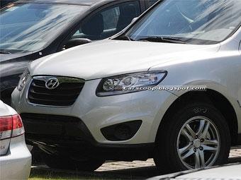 Шпионы засняли европейскую версию обновленного Hyundai Santa Fe