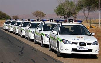 Южноафриканская полиция пересаживается на Subaru Impreza